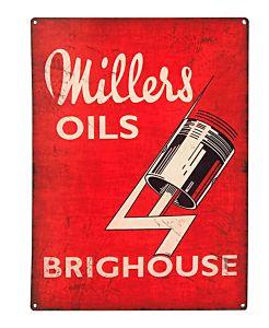 MILLERS OIL - PANNEAU ÉMAILLÉ 50 X 70 - JUMBO - BRIGHOUSE