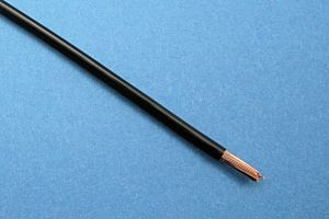 KFZ-SPEZIALDRAHT (FLRY/ FLY KABEL), 44/0.30, SCHWARZ (3 mm²) (Ø3mm)  (METERPREIS)