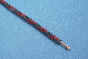 GEFLECHTKABEL, 28/0.30, (2 mm²) (Ø4,2mm) BLAU / ROT (METERPREIS)