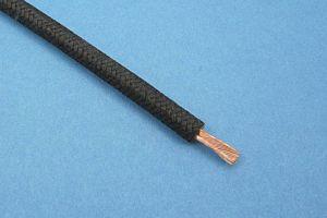 GEFLECHTKABEL, 65/0.30, (4,5 mm²) (Ø5,7mm) SCHWARZ (METERPREIS)