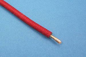 GEFLECHTKABEL, 65/0.30, (4,5 mm²) (Ø5,7mm) ROT (METERPREIS)