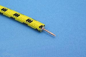GEFLECHTKABEL - GELB / SCHWARZ (Ø7mm) (METERPREIS)