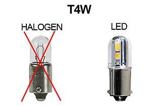 KNIPPERLICHT LED-LAMP 12V, DIMLICHTEN WARM WIT, T4w, BA9s