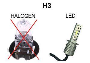 AMPOULE H3 4XL LED 2500 LM - LA PAIRE - BLANC PUR