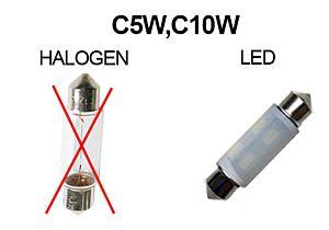 SHUTTLE LED-LAMP 12V 42MM  PUUR WIT