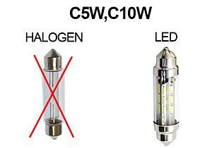 LED-SHUTTLE 6V 42MM ROT, C5W, C10W