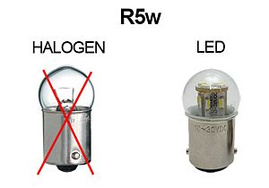 KNIPPERLICHT LED-LAMP 6V PUUR WIT, R5w, BA15s
