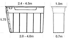 MECH-MATE SMEERPUT DP350 - 3,5 X 1 x 1,75 M