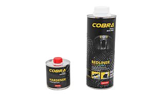 NOVOL COBRA BEDLINER 600 ML + VERHARDER 200 ML  FOR COLOR