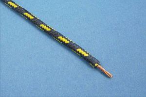 GEFLECHTKABEL, 28/0.30, (2 mm²) (Ø4,2mm) BLAU/GELB (METERPREIS)
