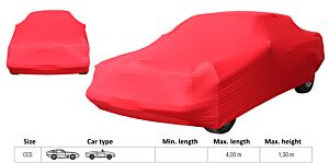 LUXE AUTOHOES CCS ROOD  (max. L= 4 meter/max. H= 1.3m)