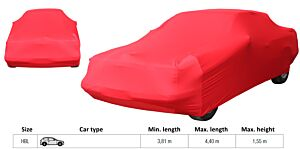 LUXE AUTOHOES HBL ROOD  (L= 3.81 tot 4.4 meter/max. H= 1.55m)