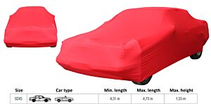 LUXE AUTOHOES SDXS ROOD (L= 4.31 tot 4.7 meter/max. H= 1.55m)