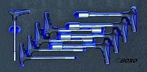 9-DLG. T-GRIP DOPSLEUTELSET 6-17 MM