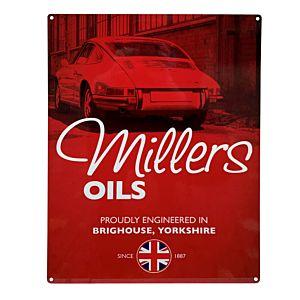 MILLERS OIL EMAIL BORD 30 X 40 - SMALL - CLASSIC PORSCHE