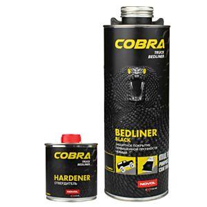 NOVOL COBRA BEDLINER 600 ML + VERHARDER 200 ML MAT ZWART
