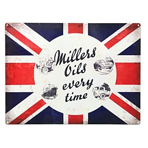 MILLERS OIL EMAIL BORD 50 X 70 - JUMBO - CLASSIC FLAG