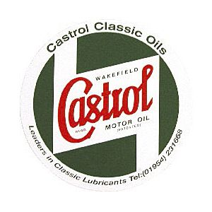 CASTROL BODYWORK STICKER 225 MM