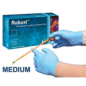 ROBUST NITRILE HANDSCHOENEN MEDIUM (BLAUW)