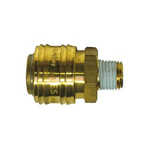 COUPLER WITH THREAD MALE 1/4''