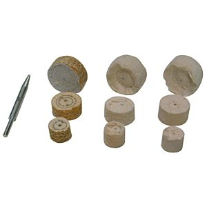 POLISHING WHEELS MINI WITH CONICAL ADAPTOR 9 PCS