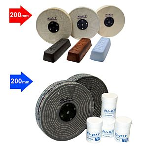 ABRASIF AND POLISHING KIT DIAM 200 MM (8200-KA + 8200-KP)