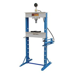 SHOP PRESS WITH MANOMETER 20 TON  HEAVY FRAME