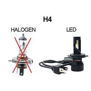 KOPLAMPEN H4 LED 7000 LM -  PAAR - PUUR WIT