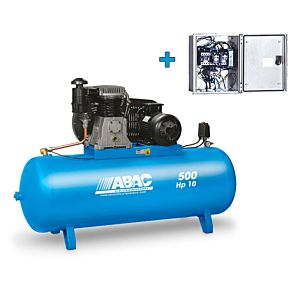 ABAC COMPRESSOR 10 HP 500L TANK WITH PREWIRED MAGNETIC STARTER