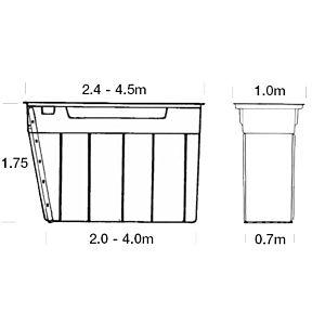 MECH-MATE SMEERPUT DP240 - 2,4  X 1 x 1,75 M