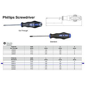 SCHROEVENDRAAIER PHILLIPS - KRUISKOP PH1 X 100 MM