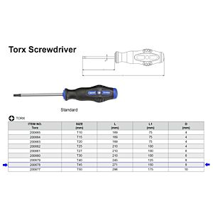 TX SCHROEVENDRAAIER T45 X 150 MM